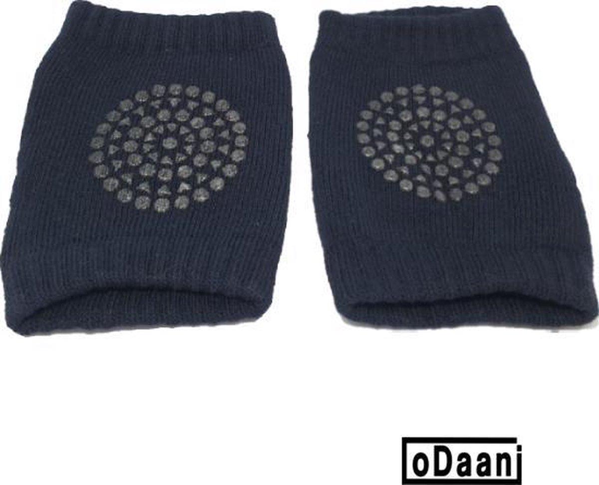 Set van 2 baby kniebeschermers - Zwart - Baby kniepads - Unisex - One size - oDaani