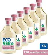 Ecover Wol & Fijnwasmiddel Waterlelie & Groene Meloen - Voordeelpakket 6 x 1,5 l - 198 wasbeurten