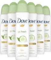 Dove Go Fresh Anti-transpirant Deodorant Spray Cucumber - 6 x 150 ml - Voordeelverpakking