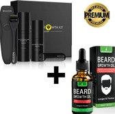 LB Products Baardgroei kit + Baardgroei olie - Producten - Baardolie Middel - Groei Set - Baardhaar - Baardgroei Rituals - Stimuleren - Serum - Spray - Versnellen - 4 delig cadeau set voor mannen