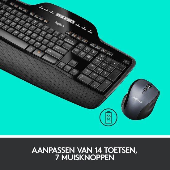 Logitech MK710 Draadloos toetsenbord en muis Azerty Zwart