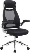 Bureaustoel voor volwassenen - Bureaustoel ergonomisch - Kantoor - Mesh - Zwart - 117-126.5x64x55