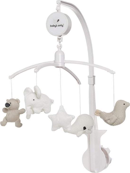 Product: Baby's Only Muziekmobiel - zand/wolwit/wit, van het merk Baby's Only