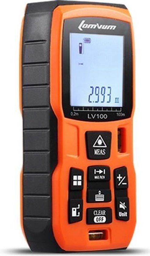 Laser afstandmeter - digitale afstandmeter - waterpas - Meet tot 50 meter - multifunctioneel Digitaal meetapparaat - incl. batterij