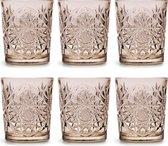 Libbey Drinkglas Hobstar Tender Taupe – 355 ml/ 35,5 cl - 6 stuks - vintage design - vaatwasserbestendig - hoge kwaliteit