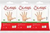 Sweeps - the natural wipe to go - 100% hygiene 99% natural - 3 pakken hygiënische doekjes voor de handen - vochtige handdoekjes voor onderweg