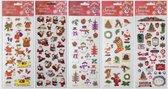 Kerststickers vellen - stickers kerst - 5 vellen met met 100+ stickers