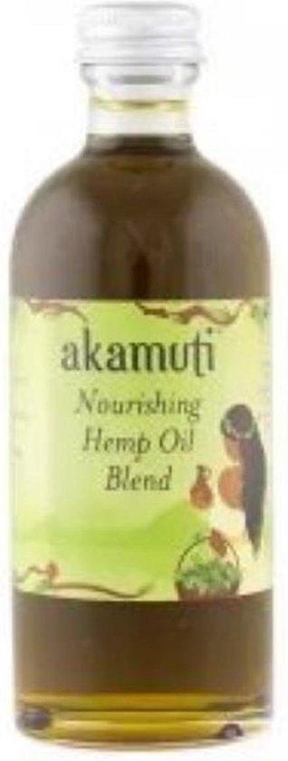 Akamuti voedende hennepzaadolie mix ( met rozenbottelolie, avocado olie, teunisbloemolie en kamille) - hennepolie - 100ml