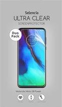 Selencia Duo Pack Ultra Clear Screenprotector voor de Motorola Moto G8 Power
