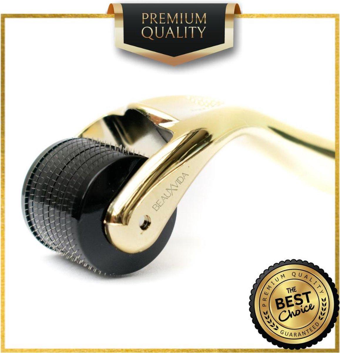 Titanium - 540 Micro-Needle 0.5mm DermaRoller   Skin Roller   Gezichts- en huidverzorging   Huidverj