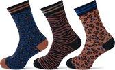 Sokken dames fashion 3 paar - Vrolijke Sokken Dames Dames Maat 36-41