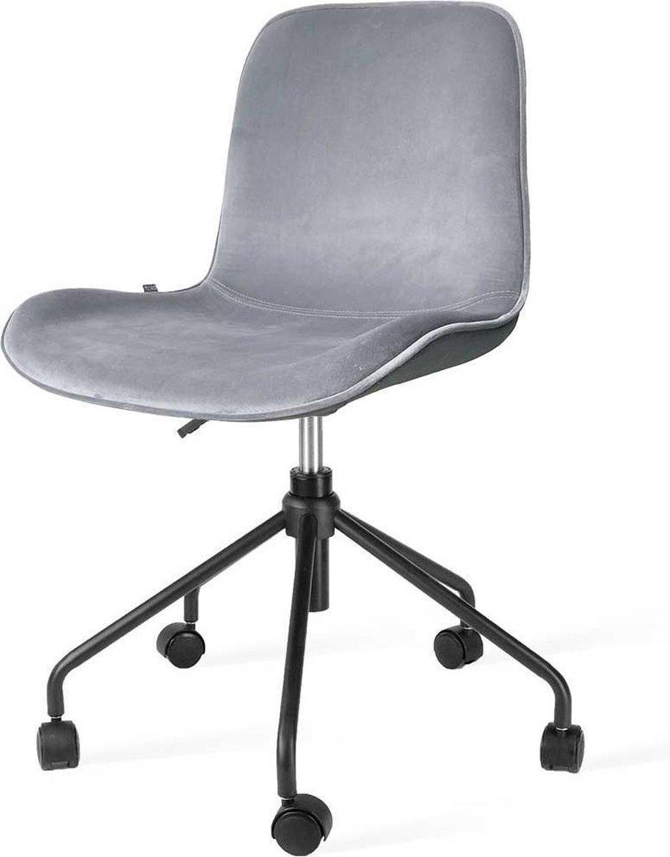 Nolon Nout bureaustoel zwart - Velvet zitting soft grey