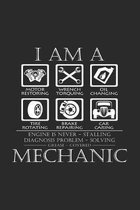 I am a mechanic: 6x9 Engines - grid - squared paper - notebook - notes