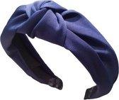 MINIIYOU® Basic Navy dames haarband - diadeem met knoop navy| Haarband volwassenen - vrouwen - dames - tieners - meiden