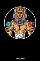 Fantasy Notebook: Space Egyptian Pharaoh Notebook