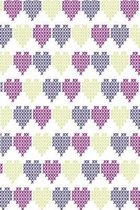 Stitched hearts in violet purple and gold: Sweet notebook for lovers and beloved ones