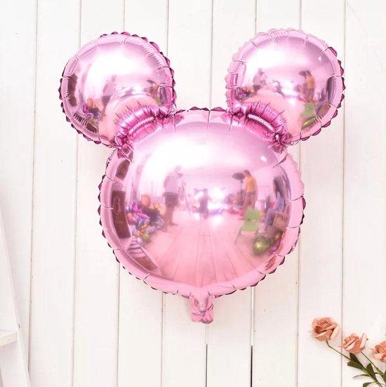 mickey mouse, minnie mouse fuchsia roze, kindercrea