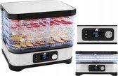 XL Voedsel Droogmachine - Droog Apparaat Voor Het Drogen Van Groente/Vlees/Fruit - Droogoven Droger - Voedseldroger Food Dehydrator Met Timer - Met 5 Trays