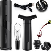 Elektrische kurkentrekker - Professionele Wijnopener - USB Oplaadbaar - Flesopener - Wijn Accessoires Set - Flessenstopper - Folie Snijder - Schenktuit - Vacuümpomp - Wine Opener - Cadeautip
