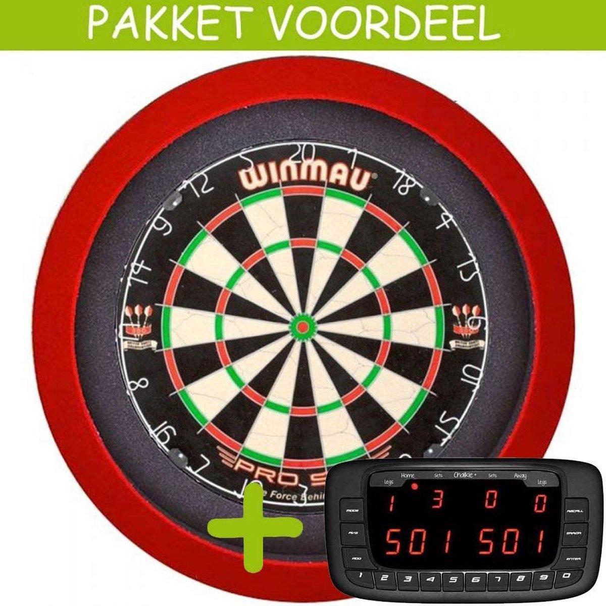 Elektronisch Dart Scorebord VoordeelPakket (Chalkie + ) - Pro SFB - Dartbordverlichting Basic (Rood)
