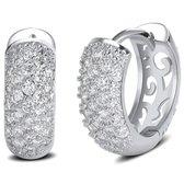Victorious Dames Oorbellen – Zirkonia Kristallen - Zilver