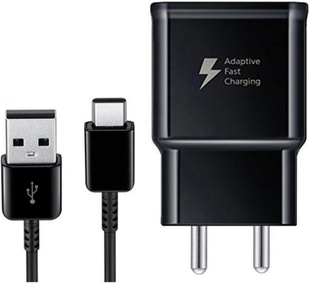MBH Samsung USB-C snellader fast charger ook voor Sony, Huawei, LG - 1m type C - 2.0A