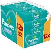 12 x Pampers Fresh Clean Babydoekjes 1 verpakkingen = 52 doekjes ( 744541 )