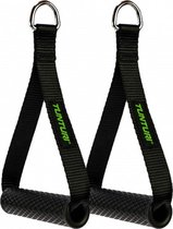 Tunturi Strap handle - cable handles met D-ring - per paar - Zwart