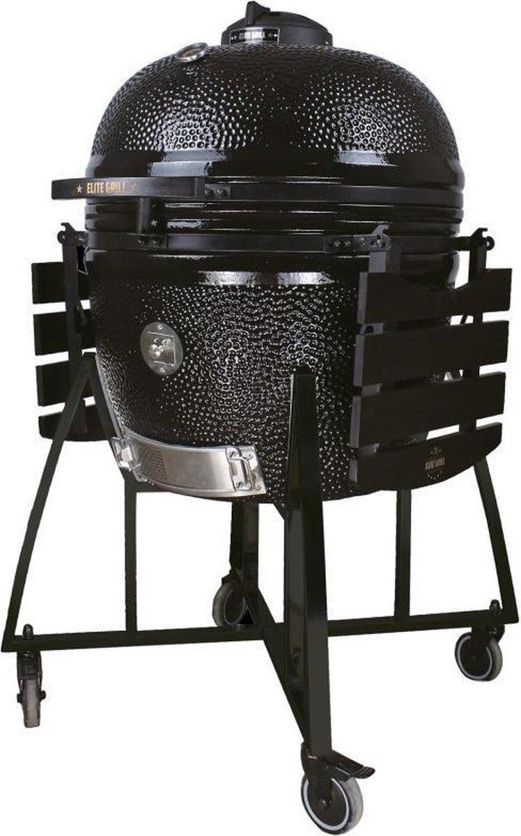 EliteGrill 68 cm - (26 inch) Black Limited Edition Deluxe BBQ met regenhoes - Barbeque - Kamado