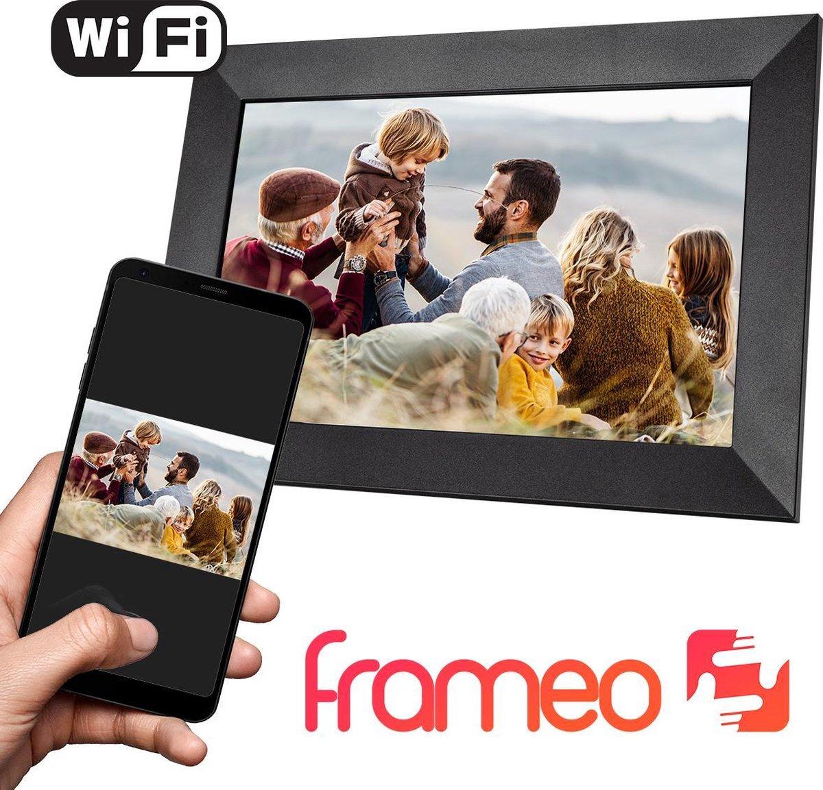 Qumax Digitale Fotolijst met Frameo app - Wifi Fotolijst - 10 inch Digitale Fotokader - Touch Screen