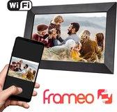 Qumax Digitale Fotolijst met Frameo app - Wifi Fotolijst - 10 inch Digitale Fotokader - Touch Screen - HD+