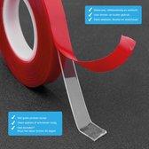 24ME®  Ultra Krachtig Dubbelzijdig Tape - Incl. Bewaar zakje - 10mm Montagetape  3M - Transparant