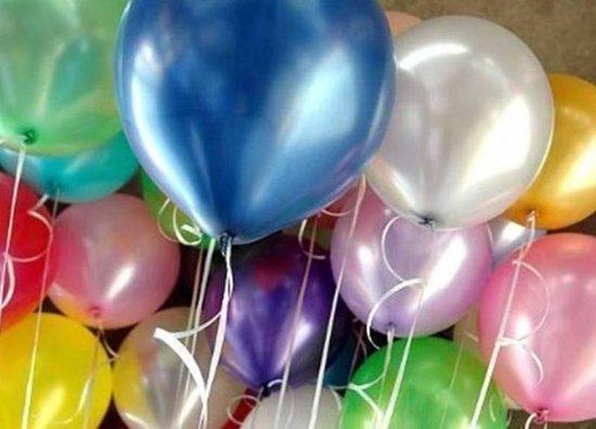 Luxe party assortiment XL (metallic) ballonnen - 90 stuks - verjaardag ballonnen - extra groot ca. 38 cm lang - peervorm - hoge kwaliteit bio afbreekbaar latex - voor helium, lucht, etc . - Nu met gratis snel sluiters t.w.v. 11,95