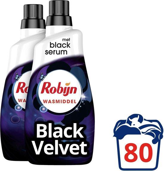 Robijn Klein & Krachtig Black Velvet Vloeibaar Wasmiddel - 2 x 40 wasbeurten - Voordeelverpakking