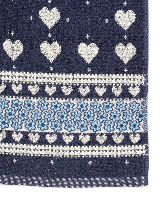 Bunzlau Castle Valentine Keukendoek (6 Stuks) - 53x60 cm - Dark Blue