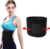 Timilon® Waist trainer - Zweetband buik - Afslankband - Waist shaper - Sauna band - Buikband afvallen - zwart