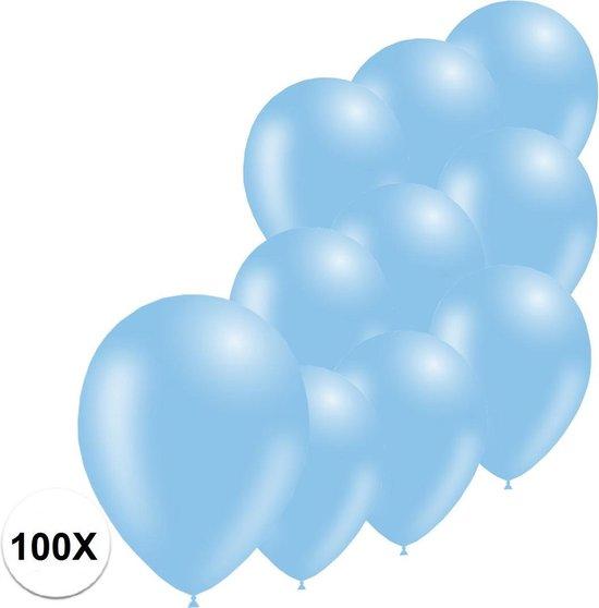 Lichtblauwe Ballonnen Gender Reveal Babyshower Versiering Verjaardag Versiering Blauwe Helium Ballonnen Feest Versiering 100 Stuks