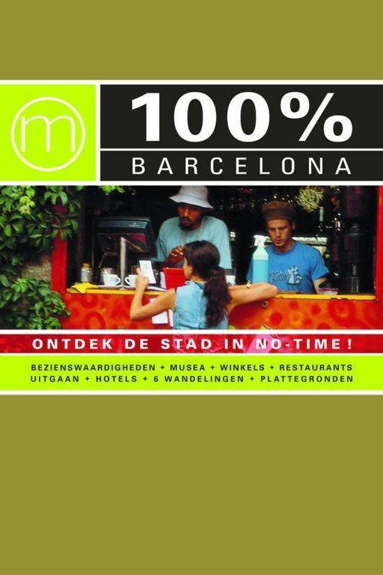 Cover van het boek '100% Barcelona ontdek de kleurrijke stad' van Nieke Stein