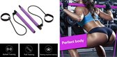 Fitness Bar - Fitness Elastiek - Pilates Stick - Pilates Bar - Fitness Stick - Yoga Bar - Weerstandsbanden - Resistance band - Paars