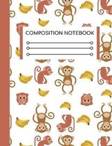 Composition Notebook: College Ruled Size for People Who Love Everything Monkey
