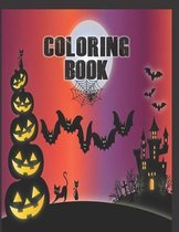 Coloring Book: Cute Halloween Book for Kids, 3-5 yr olds
