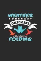Weather forecast Origami folding: 6x9 Origami - grid - squared paper - notebook - notes