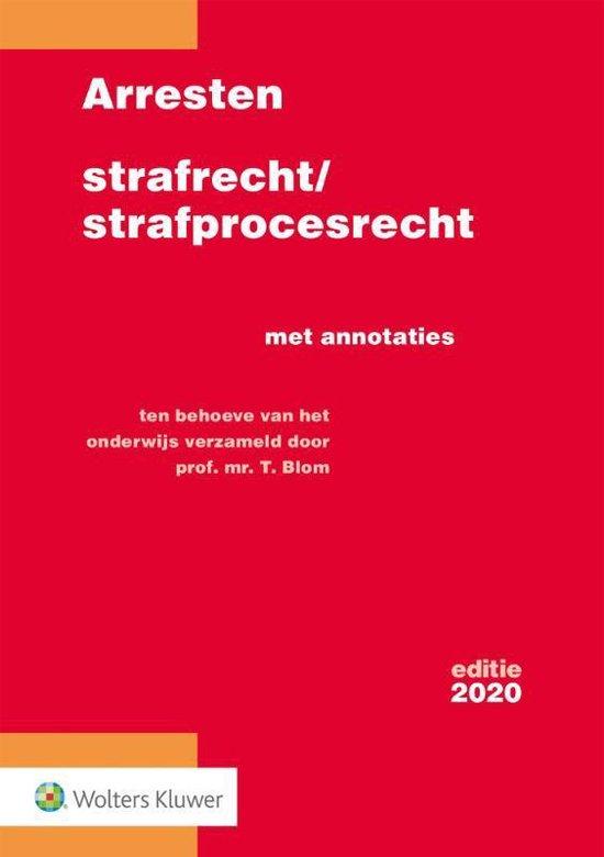 Boek cover Arresten strafrecht/strafprocesrecht 2020 van T.Blom (Paperback)