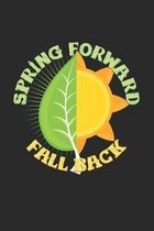 Spring forward fall back: 6x9 Spring - dotgrid - dot grid paper - notebook - notes