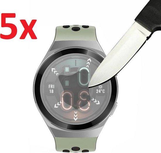 Tempered Glass Screenprotector Voor Huawei Watch GT 2E (Active & Sport) - Screen Protector Ultradun Gehard Glas - Display Schermbeschermer Beschermglas - Set Van 5 Stuks
