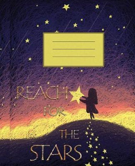 Reach For The Stars: Wide Ruled Composition Notebook II