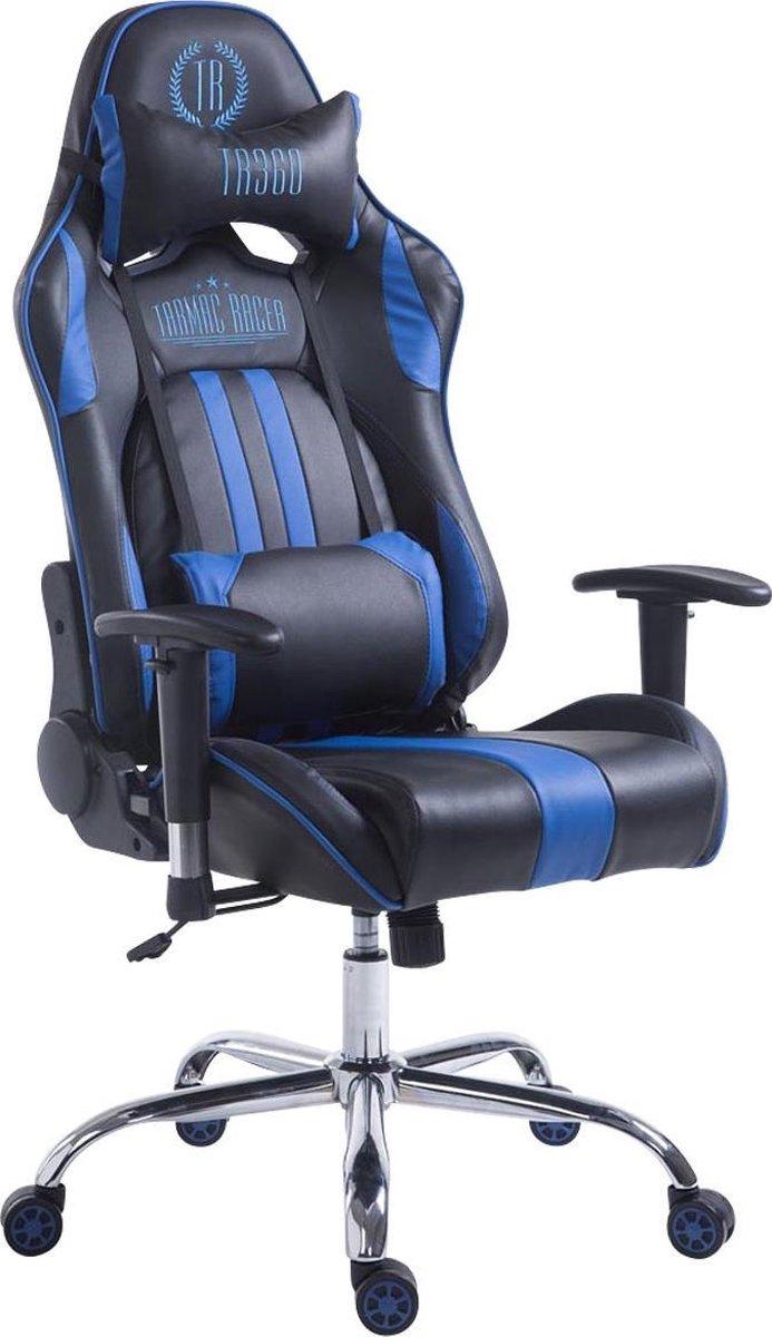 Clp Limit xl Racing Bureaustoel - Kunstleer - Zwart/blauw - Zonder voetsteun