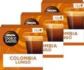 NESCAFÉ® Dolce Gusto® Absolute Origins Colombia Sierra Nevada Lungo Koffiecups - 3 doosjes à 12 capsules geschikt voor 36 kopjes