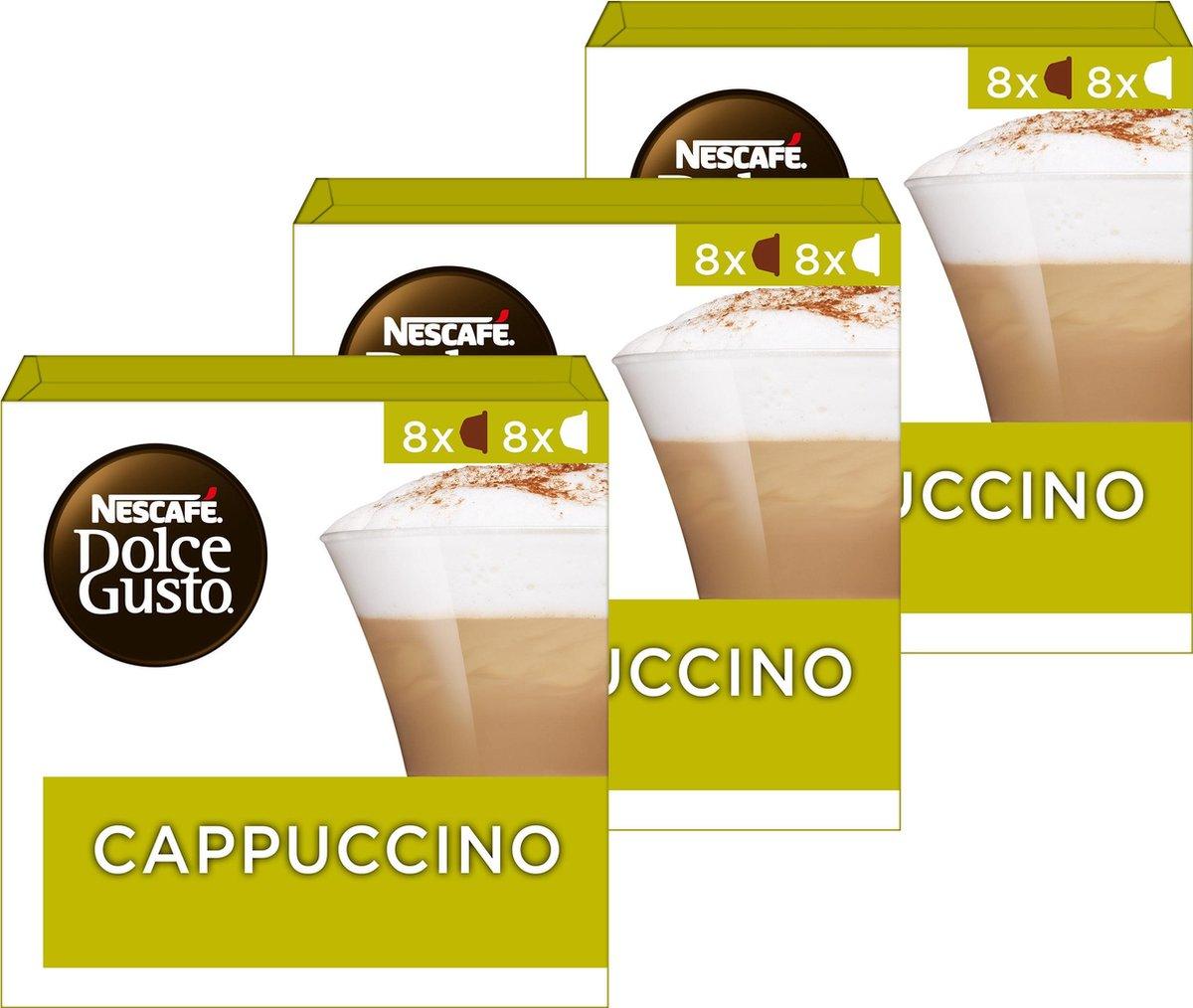 Nescafé Dolce Gusto capsules Cappuccino - 48 koffiecups - geschikt voor 24 koppen koffie