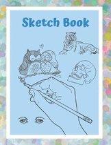 Sketch Book: Artist Sketchbook For Drawing, Sketching, Doodling. 8.5 x 9''